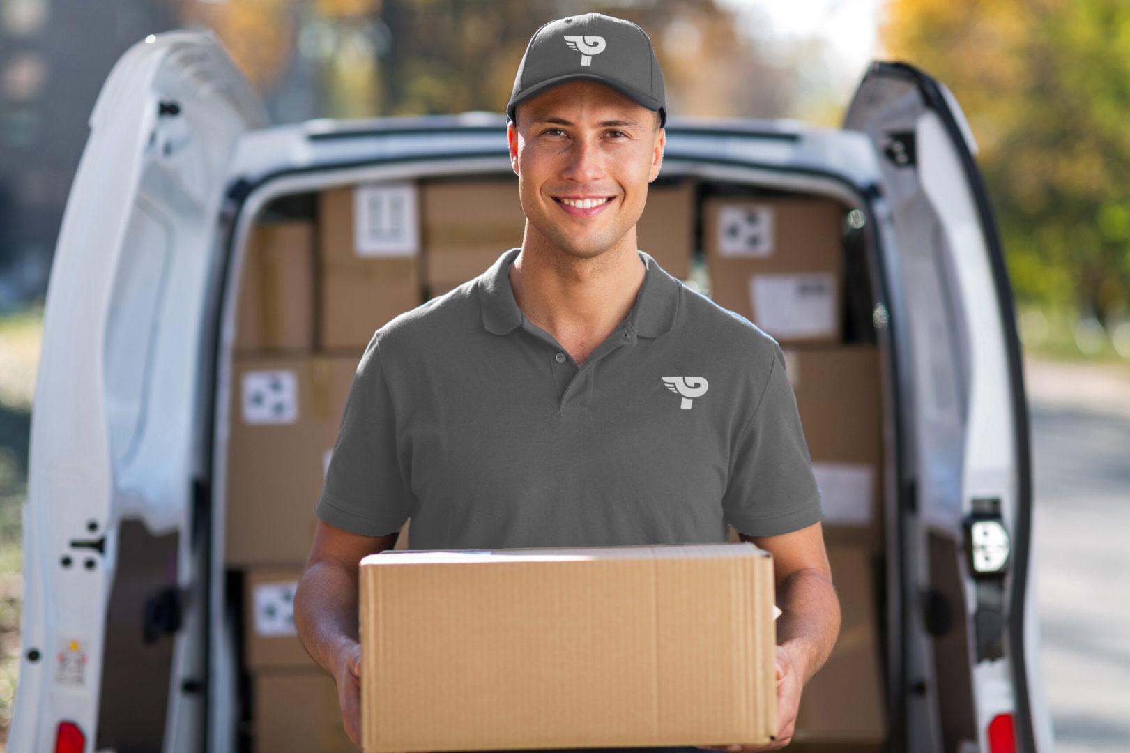 courier driver, delivery parcels